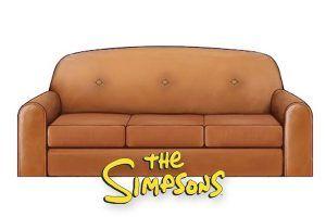 Alquiler sofa simpsons